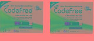 SD Codefree 200 (100x2) Test Strips Expiry March 2019