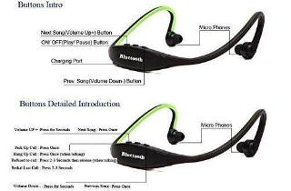 Wireless Bluetooth Headphone BS19 In the Ear Sports Headphones (with