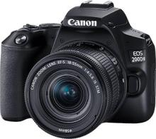 Canon EOS 200D II DSLR Camera Body with Single Lens 18 - 55 mm f/4 - 5.6 IS STM(Black)