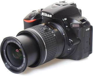 Nikon DSLR D5600 DSLR Camera with AF-P DX Nikkor 18-55 mm f/3.5-5.6 VR with and 16GB Memory Card and Loweoro BP150 Bag Free(Black)