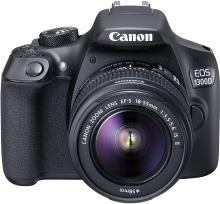 Canon EOS 1300D 18MP Digital SLR Camera (Black) with 18-55mm ISII Lens, 16GB Card and Carry Case
