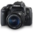 Canon EOS 750D Kit (EF-S18-55mm IS STM) 24.2 MP DSLR Camera (Black) Front View