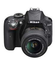 Nikon D3300 DSLR Camera Body AF-P DX Nikkor 18 - 55 mm Black