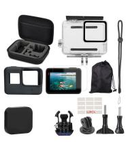 23pcs Waterproof Case Storage Bag Adapters for Gopro Hero 7 White Silver