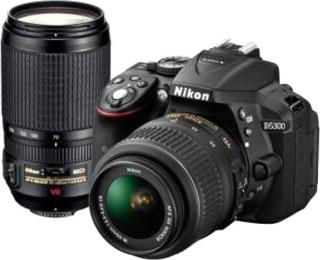 Nikon D5300 DSLR Camera Kit Lens AF-P DX Nikkor 18-55 mm VR+AF-P DX Nikkor 70-300 mm Black