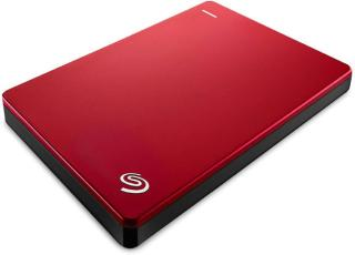 Seagate Plus Slim 2 TB Wired External Hard Disk Drive(Red, Mobile Backup Enabled)
