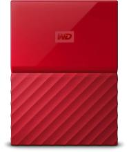 Western Digital My Passport 2TB External Hard Drive (Red)