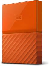 WD My Passport 4 TB Wired External Hard Disk Drive(Orange)