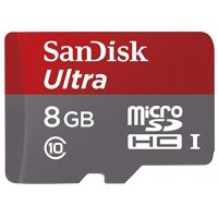 SanDisk Ultra Micro SDHC 8 जीबी UHS-I Class 10 Memory Card 48 MB/s + SD Adapter (SDSDQUAN-008G-G4A)