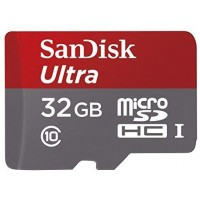 SanDisk Ultra MicroSDHC 32GB UHS-I Class 10 Memory Card 48 MB/s + SD Adapter