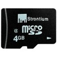 Strontium 4GB MicroSD Card (Class 6) Front View