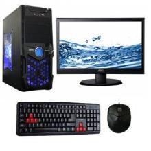 Desktop Pc Computer Core I 5 750 2.66/8Gb/500Gb/1Gb Graphics / High Cooling Atx Cabinet With 18.5