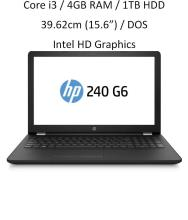 HP 240 G6 (6th Gen i3 / 4GB RAM / 1TB HDD / 35.56cm(14) / DOS ) Black