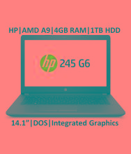 HP G Series HP 245 G6 Notebook AMD APU A9 4 GB 35.56cm(14) DOS Integrated Graphics Black