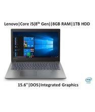 Lenovo Ideapad 81DE01Q6IN Notebook Core i5 (8th Generation) 8 GB 39.62cm(15.6) DOS Integrated Graphics Black