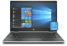HP Pavilion x360 (Core i3 -8th Gen / 4GB / 1TB / 8 GB SSD / 35.56 cm (14 Inch) FHD touchscreen / Windows 10 (Microsoft Office H&S)) 14-CD0077TU Convertible Laptop (Natural Silver, 1.68 kg)