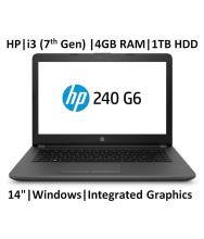 HP 240 Core i3 7th Gen ( 4GB / 1TB / Windows 10 / Integrated Graphics ), G6 Laptop (14-inch,Grey, 2.9 Kg) (5LR09PA)