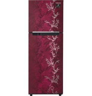 Samsung 253 L Frost Free Double Door 2 Star (2020) Refrigerator(Mystic Overlay RED, RT28T30226R