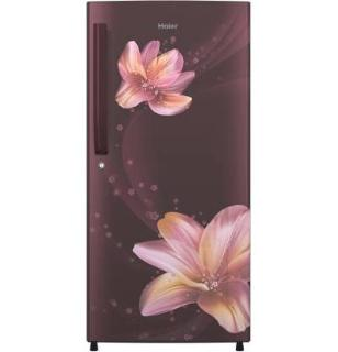 Haier 195 L Direct Cool Single Door 3 Star (2020) Refrigerator(Red Serenity, HRD-1953CRS-E)
