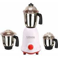 Celebration Celeb 1000 ArwaWhiteRed 1000W Mixer Grinder White & Red