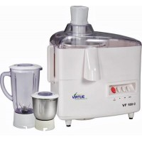 Virtue VF-180C 500 W Juicer Mixer Grinder (White, 2 Jars)