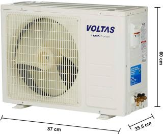 Voltas 1.5 Ton 3 Star BEE Rating 2018 Split AC - White(183 DZZ, Copper Condenser)