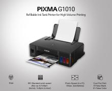 Canon Pixma Ink Efficent G1010 Single Function Printer(Black, Refillable Ink Tank)