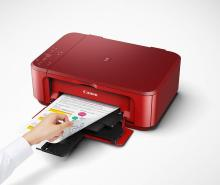 Canon PIXMA MG3670 Multi-function Wireless Printer(Red, Ink Cartridge)