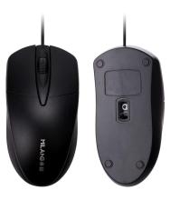 Black Photoelectric USB Gaming Mouse Wired Office Home