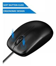 Abronix WIRED MOUSE Black USB Wired Mouse