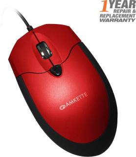 Amkette Weego Pro USB Wired Optical Mouse(USB, Red, Black)